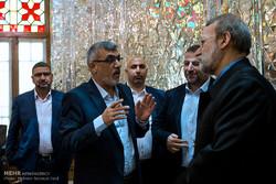 دیدار معاون اول رئیس دفتر حماس با علی لاریجانی رئیس مجلس شورای اسلامی