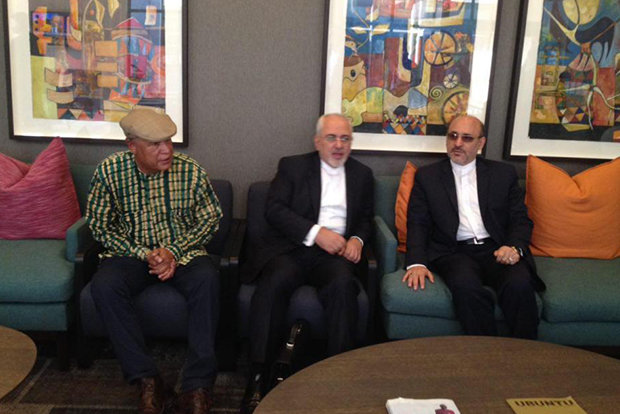 Zarif meets with South African President