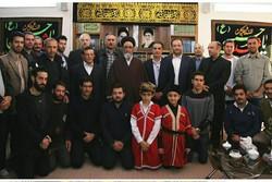 دیدار حجت الاسلام آل هاشم نماینده ولی فقیه در آذربایجان شرقی با روسا و اعضای هیات ورزشی تیراندازی با کمان و چوگان