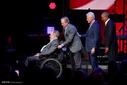 روسای جمهور سابق آمریکا در کنسرت خیریه