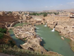 A view of Shushtar Historical Hydraulic System, a UNESCO World Heritage in southwest Iran