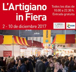 A poster for the Artigiano in Fiera International Crafts Selling Exhibition