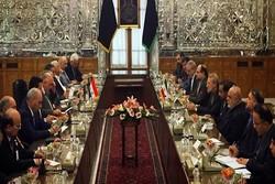 حيدر العبادي يلتقي برئيس مجلس الشورى الاسلامي
