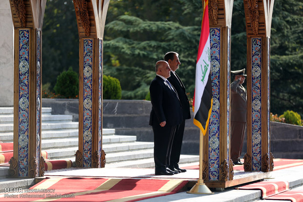 Official welcome for Iraqi prime minister in Tehran