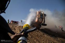 مانور امداد و نجات حوادث جاده ای در یزد