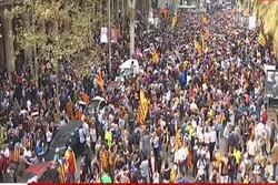 کاتالونیا / شادی مردم پس از رأی استقلال