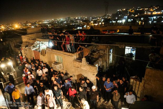 انفجار گاز در کوی رمضان اهواز
