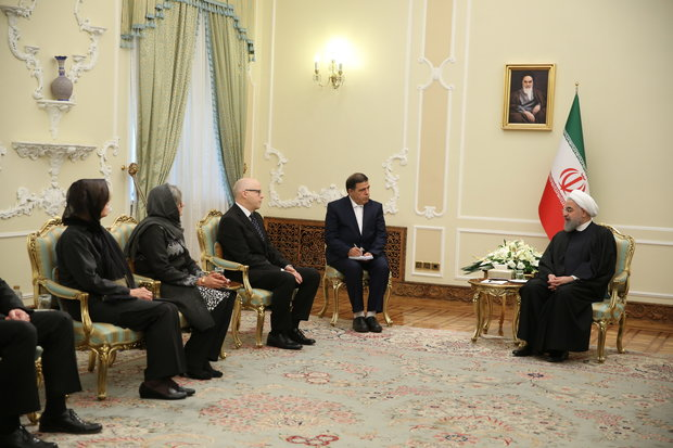 Pres. Rouhani calls for closer Tehran-Helsinki ties