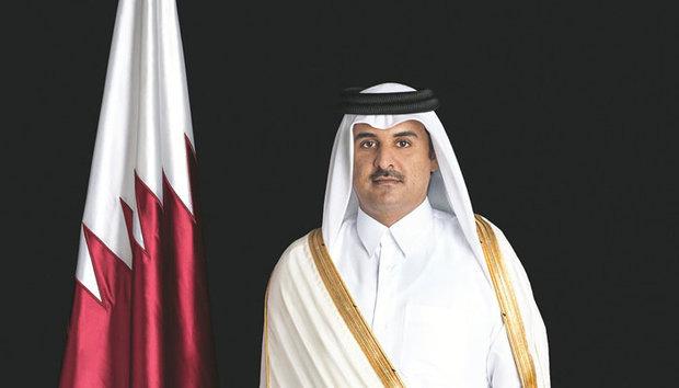 Qatari Emir felicitates Pres. Rouhani on Islamic Revolution anniv.