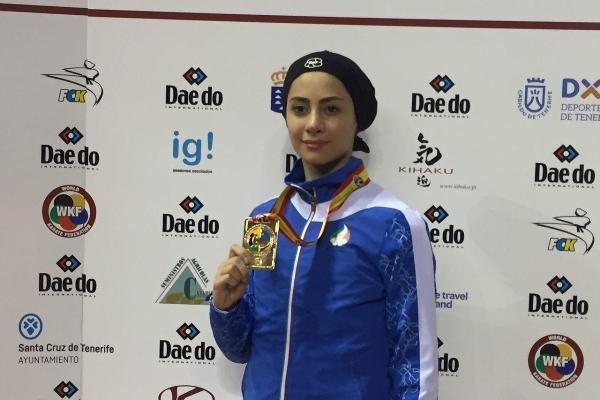 آویشن باقري تحرز الميدالية الثانية لإيران ببطولة العالم للكاراتيه في اسبانيا