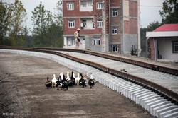 اتمام ریل گذاری راه آهن بین المللی آستارا-آستارا در خاک ایران
