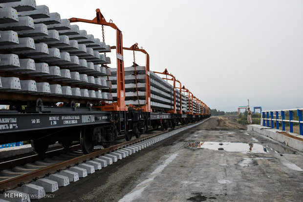 Operations on Astara-Astara railroad finished in Iran's soil