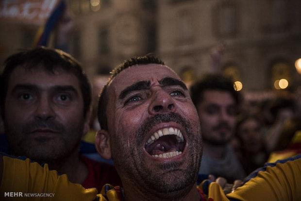 راهپیمایی اتحاد اسپانیا در بارسلون