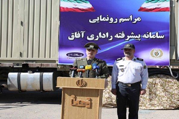 """وزير الدفاع يكشف الستار عن منظومة """"آفاق"""" الرادارية المتطورة"""