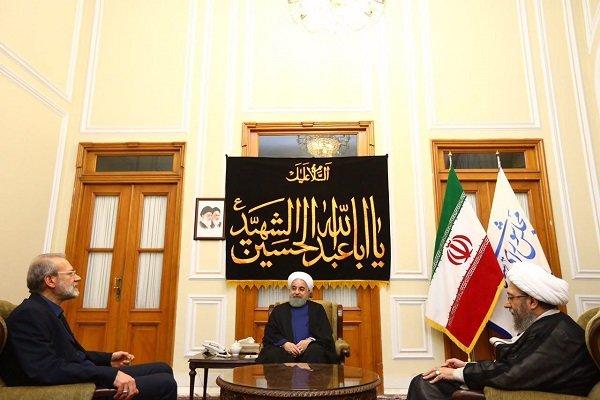 اجتماع رؤساء السلطات الايرانية الثلاث باستضافة لاريجاني
