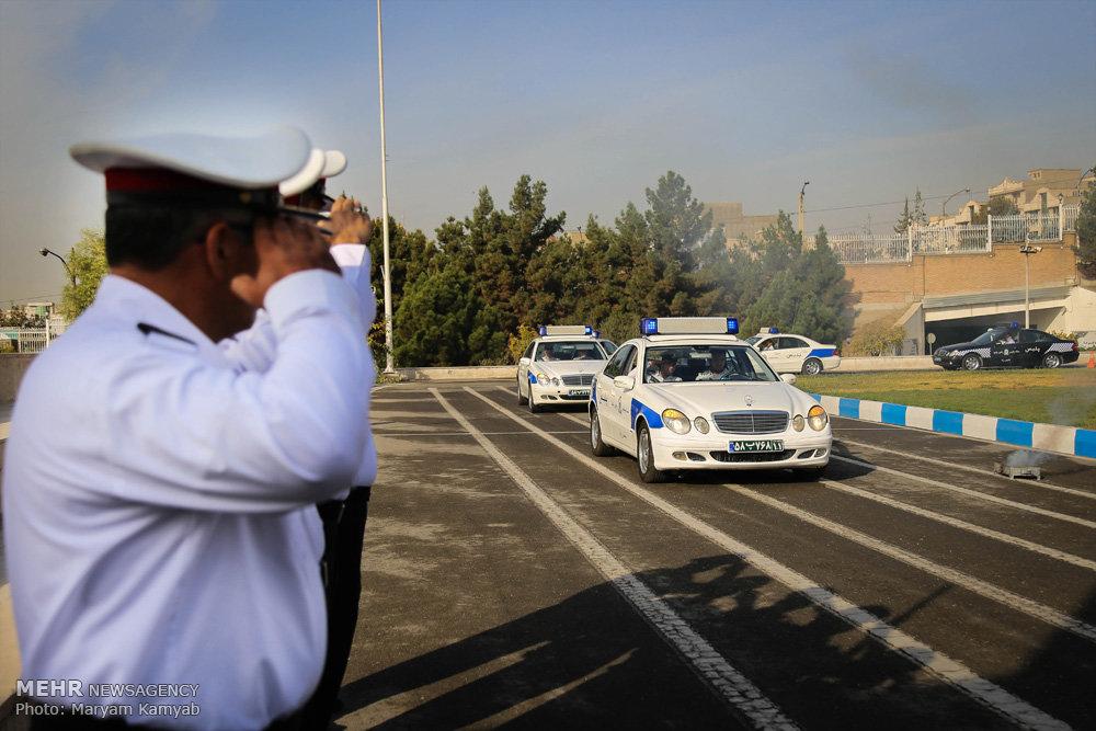 رژه خودرویی پلیس راهور ویژه اربعیناستعراض سيارات الشرطة الايرانية بمناسبة الاربعين الحسيني