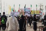 زوار اربعین در مرز چذابه