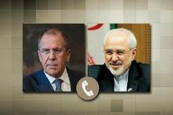 Iranian, Russian FMs hold phone talks