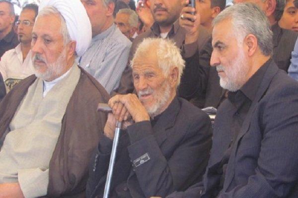 كبار المسؤولين الايرانيين يعزون اللواء سليماني بوفاة والده