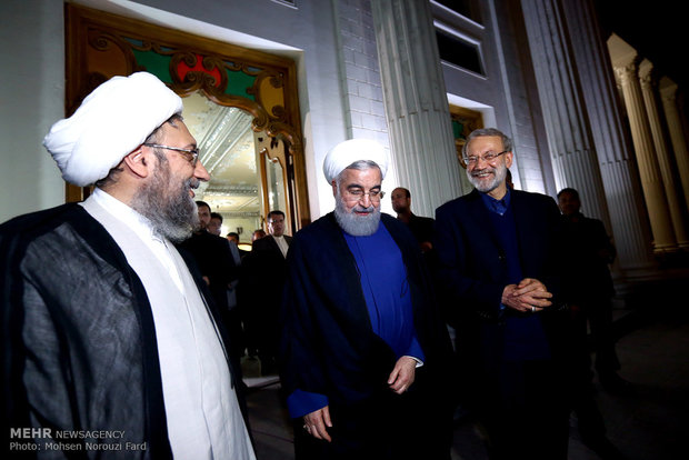Heads of Iran's trio branches of power meet