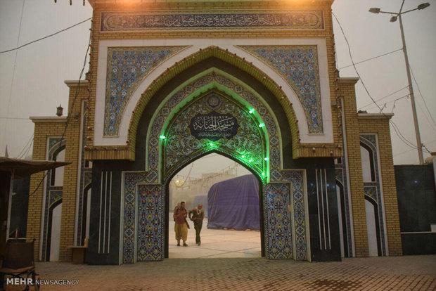 آماده سازی موکب حضرت ابوالفضل لرستان در نجف