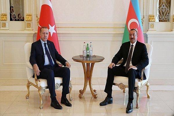 Erdoğan ile Aliyev ile bir araya geldi