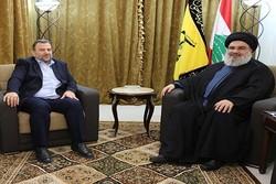 السيد نصر الله يعزي بشهداء الجهاد ويلتقي ممثل حركة حماس