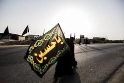 پرچم یالثارات حسین در شلمچه به اهتزار درآمد