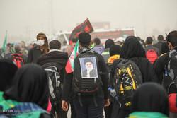 حضور زائران اربعین حسینی در مرز مهران