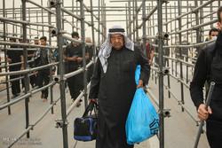 وضعیت تردد در گیت های گذرنامه پایانه مرزی مهران