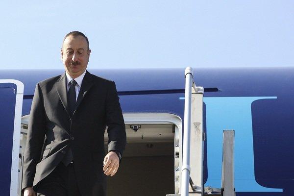 Azerbaijan's Aliyev lands in Tehran