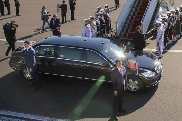 Vladimir Putin arrives in Tehran to attend trilateral summit
