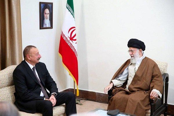 الهام علی اف با رهبر انقلاب اسلامی دیدار کرد +عکس