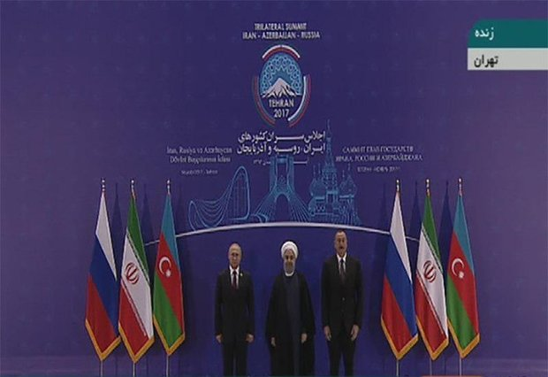 VIDEO: Rouhani officially welcomes Putin, Aliyev