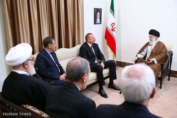 Ayatollah Khamenei meets Vladimir Putin and Ilham Aliyev