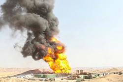 میدان نفتی رگ سفید فوران چاه نفت
