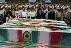 تشييع جثامين 54 شهيداً في طهران