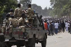 درگیری نیروهای پلیس اریتره با معترضان
