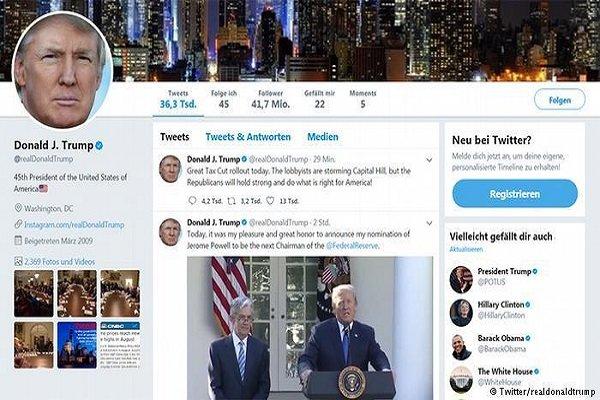 امریکی صدر ڈونلڈ ٹرمپ کا ٹوئٹر اکاؤنٹ بند کرنے کے بعد دوبارہ بحال کردیا گیا