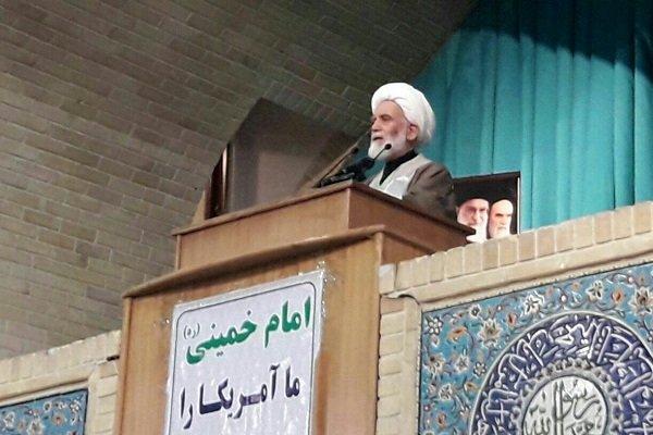 شعارهای ملت ایران علیه آمریکا و اسراییل از بمب اتم کوبندهتر است
