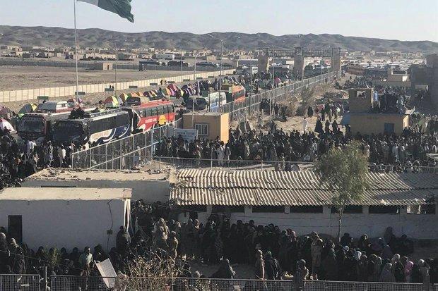 ۴۰ هزار زائر اربعین از مرز میرجاوه وارد ایران شدهاند