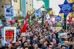 """انطلاق مسيرات يوم """"مقارعة الاستكبار"""" في مختلف أنحاء ايران"""