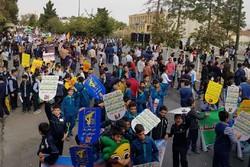 راهپیمایی ۱۳آبان در استان سمنان برگزار شد