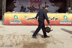 خدمات رسانی موکب ها در مرز شلمچه