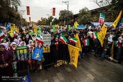 راهپیمایی روز 13 آبان در قزوین
