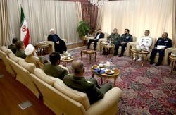 الرئيس روحاني: الحكومة والشعب يثقان بإخلاص الجيش الإيراني وتضحياته