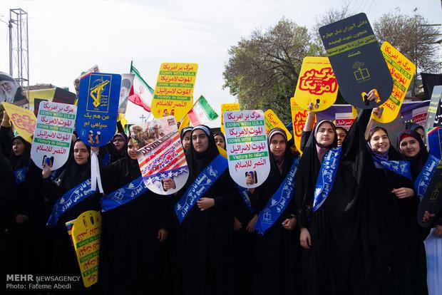 موج خروشان ضد استکباری در استان بوشهر به راه افتاد