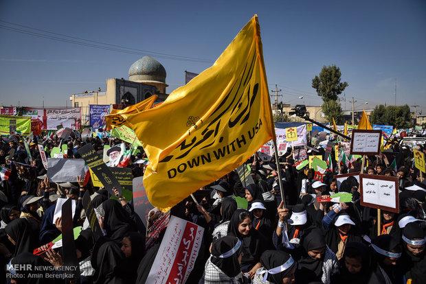راهپیمایی روز 13 آبان در شیراز