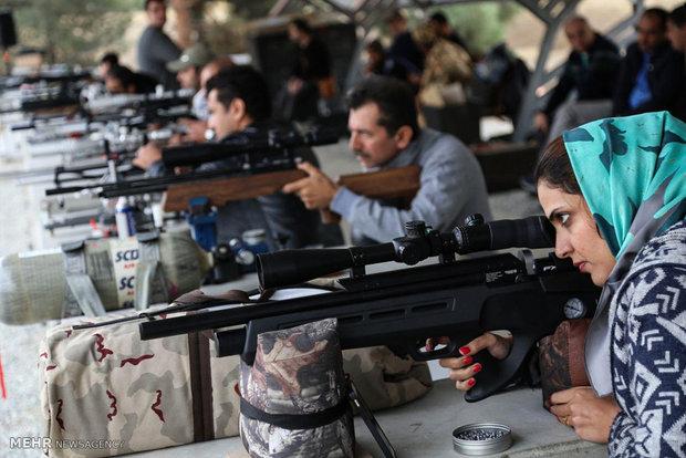 Airgun benchrest shooting contest