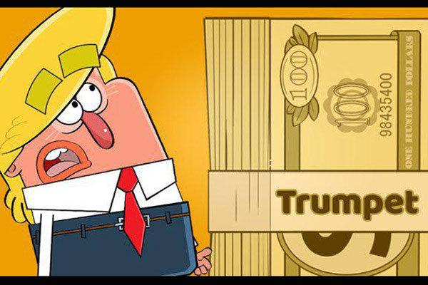 "Trump, ""Trumpet"" oyununda animasyon oldu"